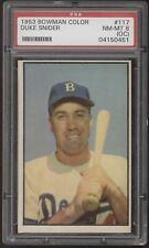 1953 Bowman Color #117 Duke Snider Brooklyn Dodgers PSA 8 NM-MT (OC)