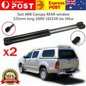 2 x NEW Gas Struts suit ARB Canopy REAR window 325mm long 160N 1921VR inc Hilux