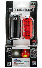Cateye 150lm Hl-El135/Omni 3 Front And Rear Bike Light Set Black