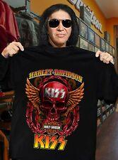 Harley-Davidson T-Shirt Kiss-Band Motorcycle Lover Rock Band Unisex Fan Gift
