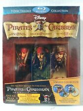 Pirates of the Caribbean Original Trilogy (Blu-ray Disc, 7-Disc Set) Brand New!