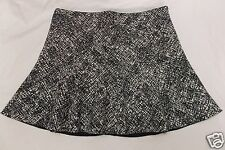 Zara Woman Mini Skirt Black White Crosshatch Trumpet Circle size Medium