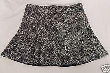 Zara Woman Mini Skirt Black White Crosshatch Trumpet Circle size Medium