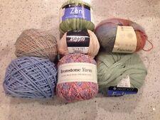 Mixed Scarf Lot - Pastel Yarns - 7 Full Skeins - Debbie Bliss - Rowan - Berroco
