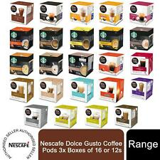 Nescafe Dolce Gusto Coffee Pods 3x Boxes of 16 or 12s inc Starbucks