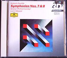 Lorin Maazel: Dvorak Symphony No. 7 & 8 DG CD Vienna Filarmonica Filarmonica