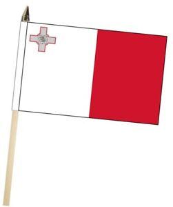 Malta Large Hand Waving Courtesy Flag
