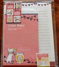 Stationery I Love Honey Letter Set  Made in Japan Kawaii