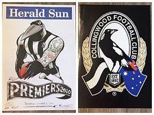2010 Collingwood Magpies WEG Premiership Poster Plus Bonus Members Poster