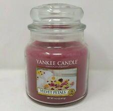 Yankee Candle Retired VELVET PETALS Medium 14.5 oz. LABEL RARE NEW