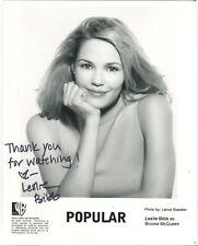 "Leslie Bibb Hand Signed 8x10"" Promotional Photo Popular The WB TV Show COA"