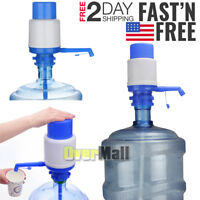 5 & 6 Gallon Hand Pump for Water Bottle Jug Manual Drinking Tap Spigot Camping