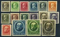 Bavaria 1914 Mi. 94-109 MH 100% King Ludwig III 10-20 M used
