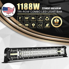 Triple Row 1188W 22inch LED Light Bar Spot Flood For Jeep Wrangler Golf Cart ATV
