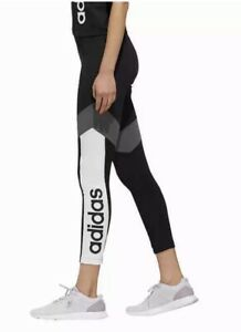NWT Women's adidas Medium Aeroready Black White Color Block Running Yoga Pants
