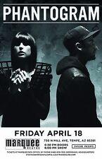 PHANTOGRAM 2014 PHOENIX CONCERT TOUR POSTER - Electro Rock, Dream Pop Music