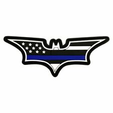 Batman Dark Knight Thin Blueline USA Flag Hook Patch (3D-PVC RUBBER 3.75X1.25)