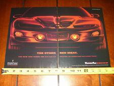 1998 PONTIAC TRANS AM - ORIGINAL 2 PAGE AD
