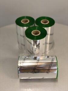 4 Rolls 130 mm x 450M Wax / Resin Thermal Ribbon GREEN CSO