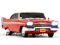 AUTOWORLD 1:18 1958 PLYMOUTH FURY CHRISTINE NIGHTTIME DIECAST CAR RED AWSS102/06