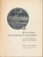 HN KASTNER Katalog 7 april 1975 Munchen Ausgewahlte Munzen Monete tedesche