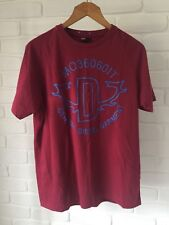 Mens Diesel 'Chemyc' T-Shirt Red & Blue Graphic Print BNWT Size XL RRP $70