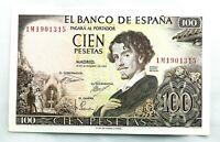 Spain-Billete. Gustavo Adolfo Becquer. 100 Pesetas. 1965. Serie 1M.  SC/UNC