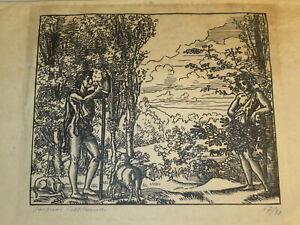 JACQUES BELTRAND (1874-1977) BOIS GRAVE MYTHOLOGIE BERGER APOLLON  HOMME 1920
