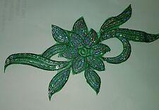 Parche bordado de lentejuelas Flor de encaje y apliques Motif Vestido de Disfraz de Baile Irlandés