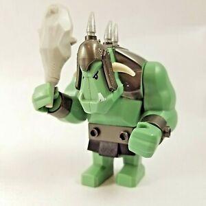 Lego Minifigure Fantasy Era Troll Sand Green with Pearl Dark Gray Armor cas376