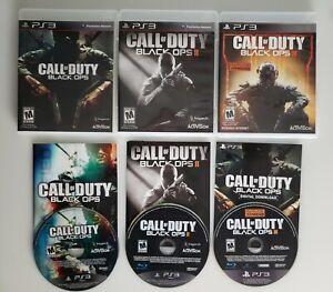 Call of Duty COD Black Ops 1 2 3 I II III Trilogy PS3 Playstation 3 Bundle Lot