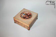 Cajita de secretos, holzkästchen, Jewelry Box, cuadros, schmuckbox, Wood, a mano.
