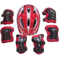 KIDS BOYS GIRLS CHILDS Helmet & Knee & Elbow Pad Set Cycling Skate Safety Sports