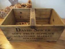 LARGE VINTAGE STYLE WOOD STORAGE CRATE BOX BLACKBERRIES STRATFORD MARKET LONDON