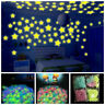 100/70pc 3D Stars Glow In The Dark Luminous Fluorescent Wall Stickers Room Decor