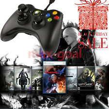Wired USB Game Pad Joypad Controller for Microsoft Xbox 360 Slim&PC Black MG
