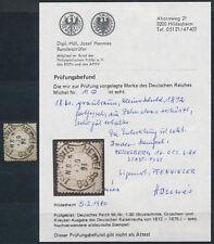 Dt. Reich 18 Kreuzer kleiner Brustschild 1872 Michel 11 Befund (S15055)
