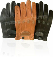 NEW RETRO STYLE QUALITY SOFT LEATHER MENS DRIVING GLOVES UNLINED CHAUFFEUR D-507