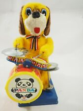 Plush Dog playing the Drums Battery Operated Toy FIgure SonA1 Toys SA-140A