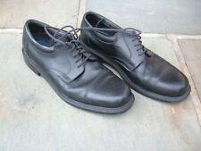 MEN'S HUNTERS BAY BLACK LEATHER DRESS SHOES SIZE  13