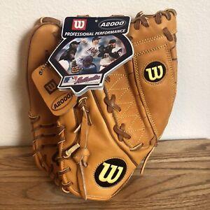 "NWT Wilson A2000 PRO-STOCK Baseball Glove 11.75"" Dual Hinge Left Handed Throw"