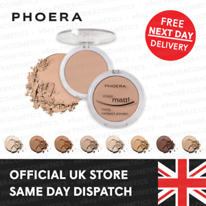 PHOERA MATTE COMPACT PRESSED FACE POWDER FOUNDATION MAKE UP SETTING BASE FIXER
