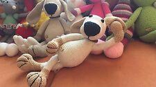 Chien doudou jouet peluche amigurumi environ 45cm fait main crochet d'art