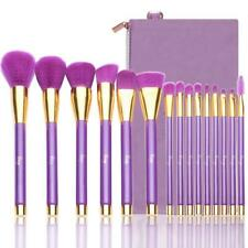 Morphe 15 Piece Set Purple and Gold Makeup Pop Art Brush Sponge Travel Set NEW