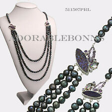 Authentic Lori Bonn Sterling Silver Pizzazz Peacock Pearl Necklace 511507PRL