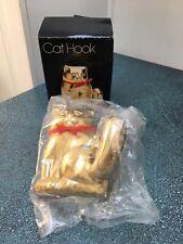 New listing Vintage Brass Metal Cat Hook