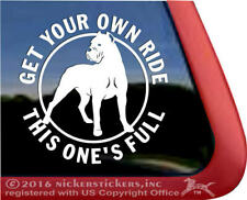 Full Ride Cane Corso Dog Decal - Cropped