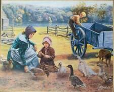 """Fox Hollow Farm - Feeding Time"" by Mort Kunstler Farm"