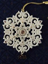 Free S&H! Lenox 2011 Annual China Snowflake Ornament Brand New In Box