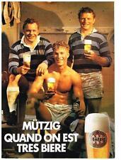 PUBLICITE ADVERTISING  1985  MUTZIG  bière
